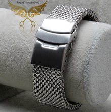 24mm Stainless Steel Watchband Butterfly Deployment Buckle Clasp Watch Band Free Shipping