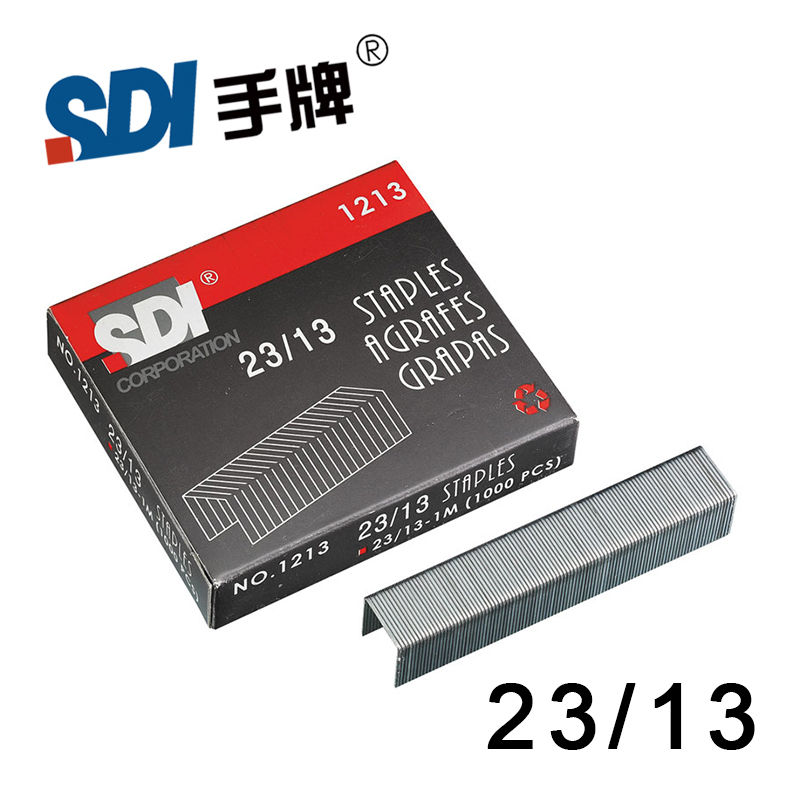 Taiwan SDI 23/13 Heavy Duty Staple Staples In Big Stapler Silver Metal 1000Pcs/Box 1213