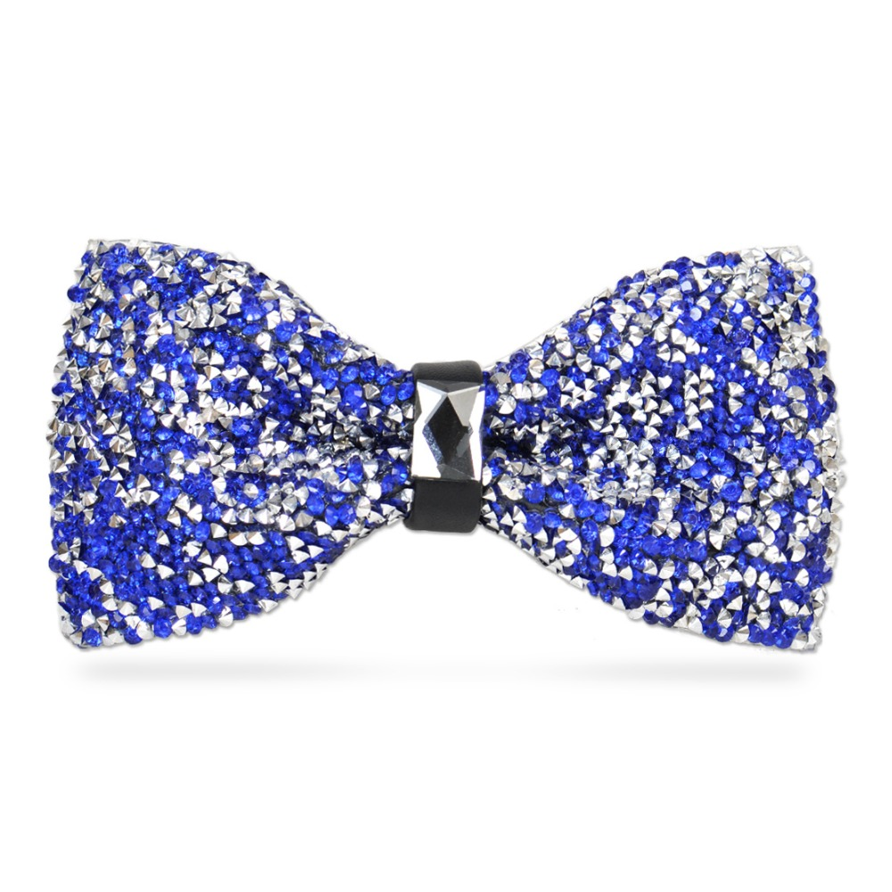 New Men Boys Stylish Tie Glitter Crystal Rhinestone Butterfly Adult Splendid Adjustable Tuxedo Bow Tie For Wedding Dress Luxury