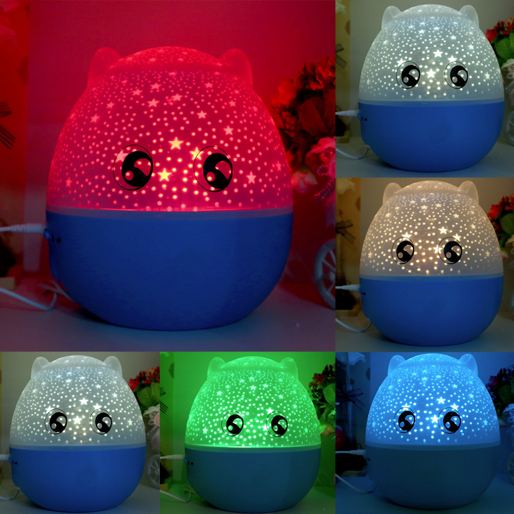 ICOCO 5 colors Romantic Rotating Projection Lamp Star Master LED Night Light With Speake ...