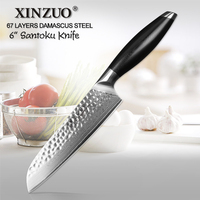 XINZUO 6'' inch Santoku Knife VG10 Damascus Stainless Steel High Quality Newarrive Japan Chef Kitchen Knives with G10 Handle