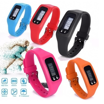 Hot Digital LCD Pedometer Run Step Walking Distance Calorie Counter Sport Watch Bracelet Running Walking Stride Meter Wristband image