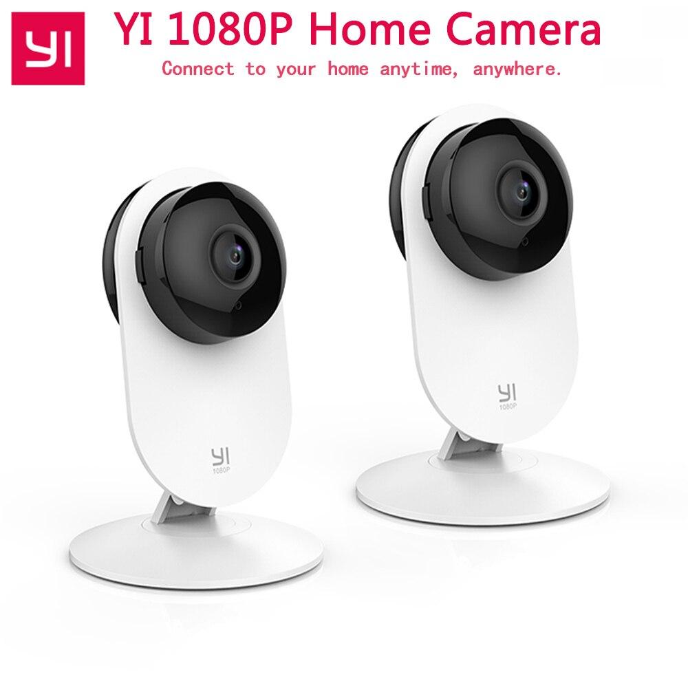 2 pièces YI 1080 P caméra domestique IP Caméra moniteur pour bébé caméra de sécurité sans fil Xiaomi yi Wifi Surveillance Webcam YI Nuage Caméra
