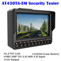 "Free shipping!Wristband 4.3"" AT430TA-5M TVI3.0+AHD2.0+CVBS CCTV Camera Test Monitor Tester"
