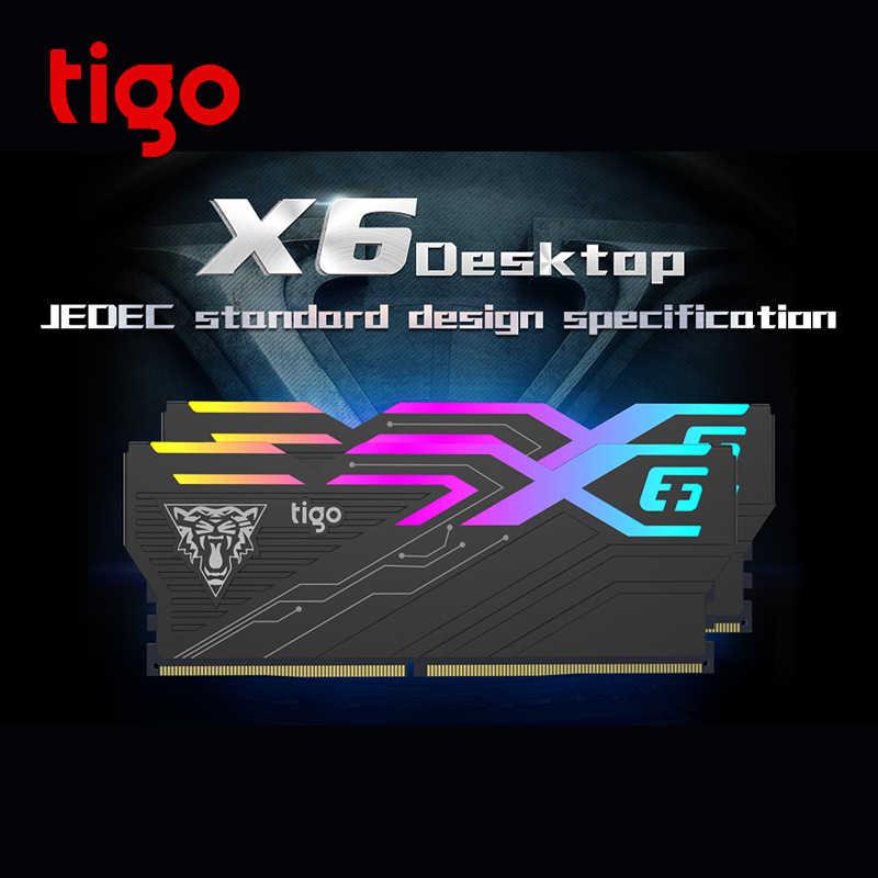 Tigo RAM LED Light PC Gaming Memory 16GB DDR4 3200 MHz for Desktop XMP  Overclock Memoria DIMM X6 Rainbow and RGB