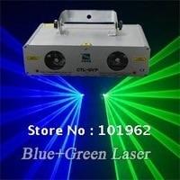 Doble Verde + Azul DMX etapa del club del partido del disco de luz Láser envío gratis