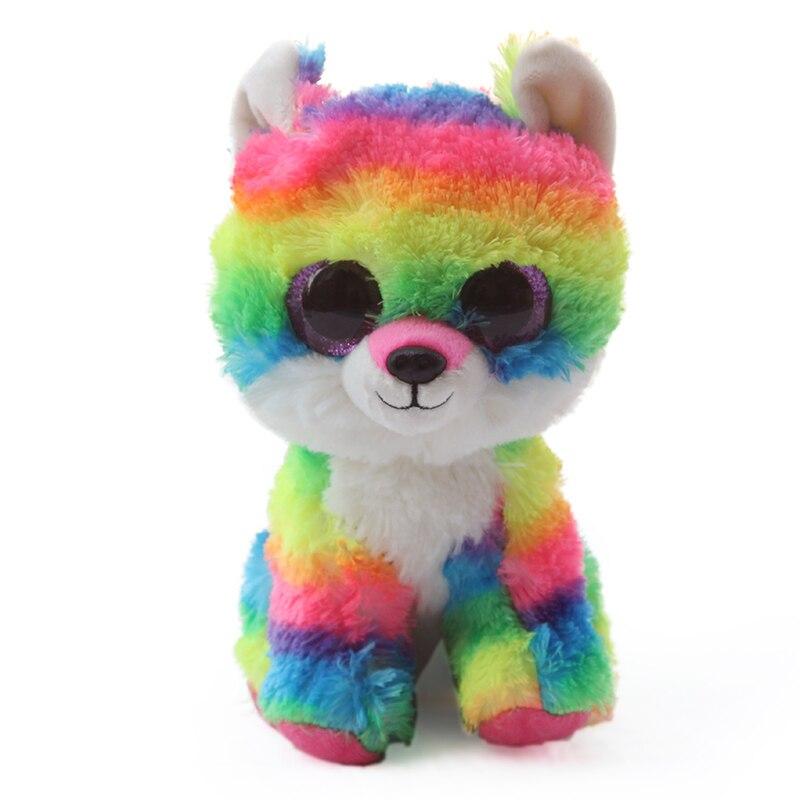TY BEANIE BOOS 1PC 25CM Plush Toys spencer dog slick fox Unicorn owl ... b2e1300ecdd3