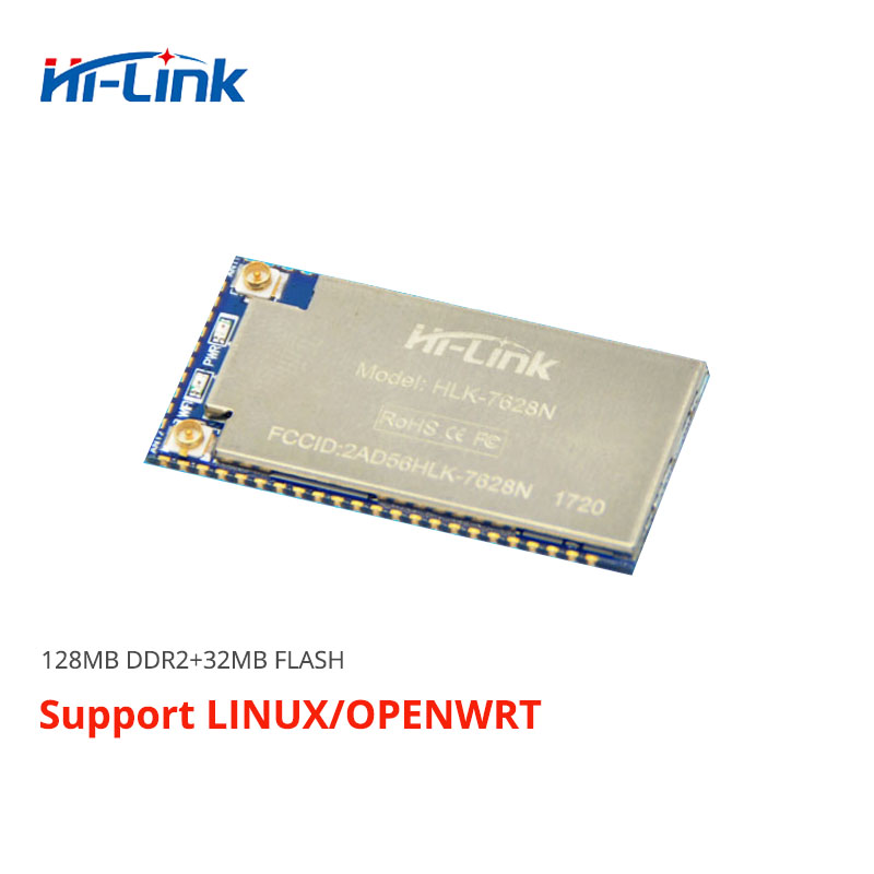 Free shipping 5pcs lot serial UART port wifi support Openwrt Linux Ethernet Router Module HLK 7628N