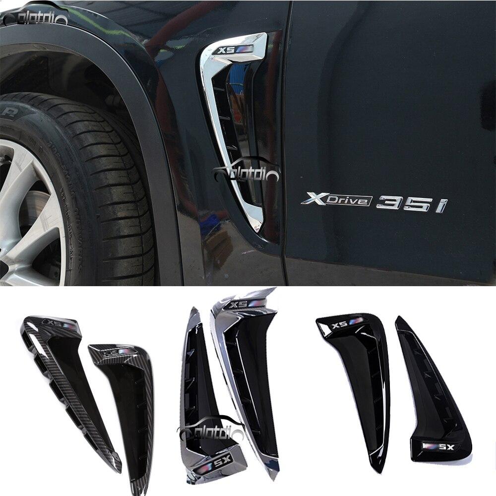Black VORCOOL Car Decorative Side Vent Air Flow Fender Plastic Sticker