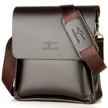 Luxury Kangaroo Brand Leather Messenger Bag Man Handbag Ches