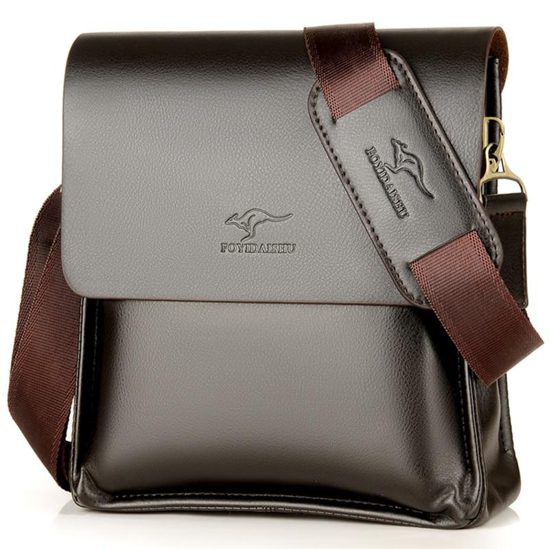 Luxury Kangaroo Brand Leather Messenger Bag Man Handbag Chest Crossbody Bag For Men  Business Small Shoulder Bag Summer Male Bag