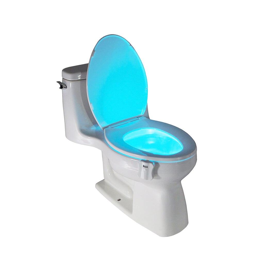 Automatic light sensor for bathroom - Body Motion Sensor Automatic Seats Led Night Light For Toilet Bowl Lid Bathroom China