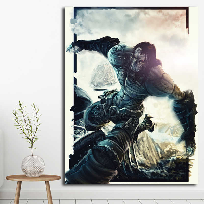 Death Darksiders 2 Wallpaper Art Canvas Poster Oil Painting Wall Picture Print Modern Home Bedroom Decoration Accesories Artwork