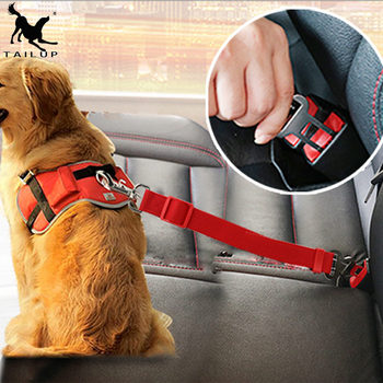 [TAILUP] Dog car seat belt safety protector travel pets accessories dog leash Collar breakaway solid car harness  py0006