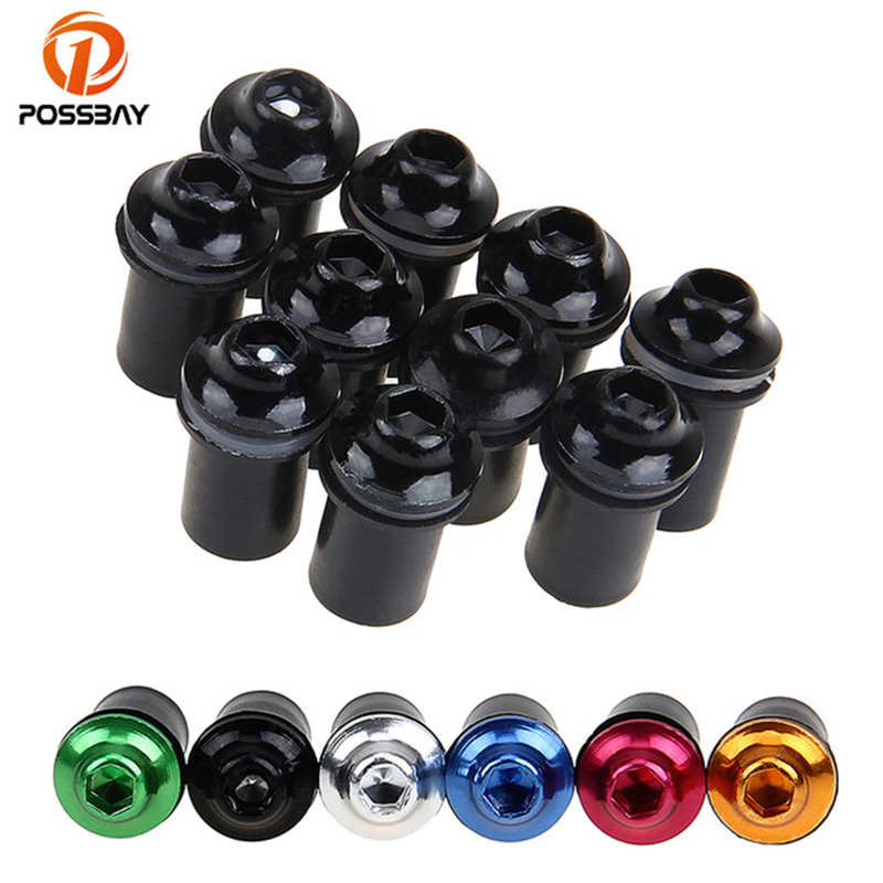 POSSBAY 10Pcs Motorcycle M5 5mm Windscreen Windshield Bolt Nuts Screw Kit for Cafe Racer Fastener Motorbike Fairing Mounting Kit