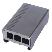 EDT-Aluminum Alloy Protective Case with Cooling Fan for Raspberry Pi 3 Grey