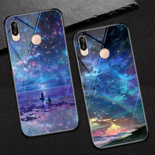 for Huawei P20 pro Customize Phone Case Coque Lite 5,84 Inch Tempered Glass Cover para Lite/Pro