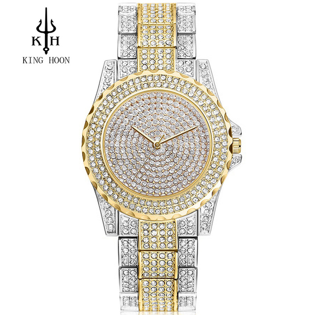 2016 New Arrival Luxury Women Watches Rhinestone Crystal Wristwatch Lady Dress W