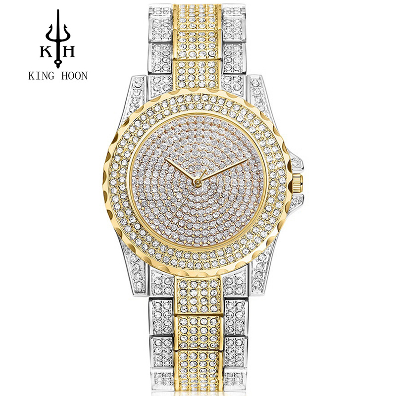 2016 New Arrival Luxury Women Watches Rhinestone Crystal Wristwatch Lady Dress Watch Men's Luxury Analog Quartz Watches Relogio