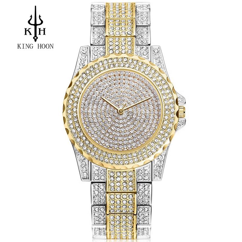 2016 neue Ankunft Luxus Frauen Uhren Strass Kristall Armbanduhr Dame Kleid Uhr männer Luxus Analog Quarz Uhren Relogio