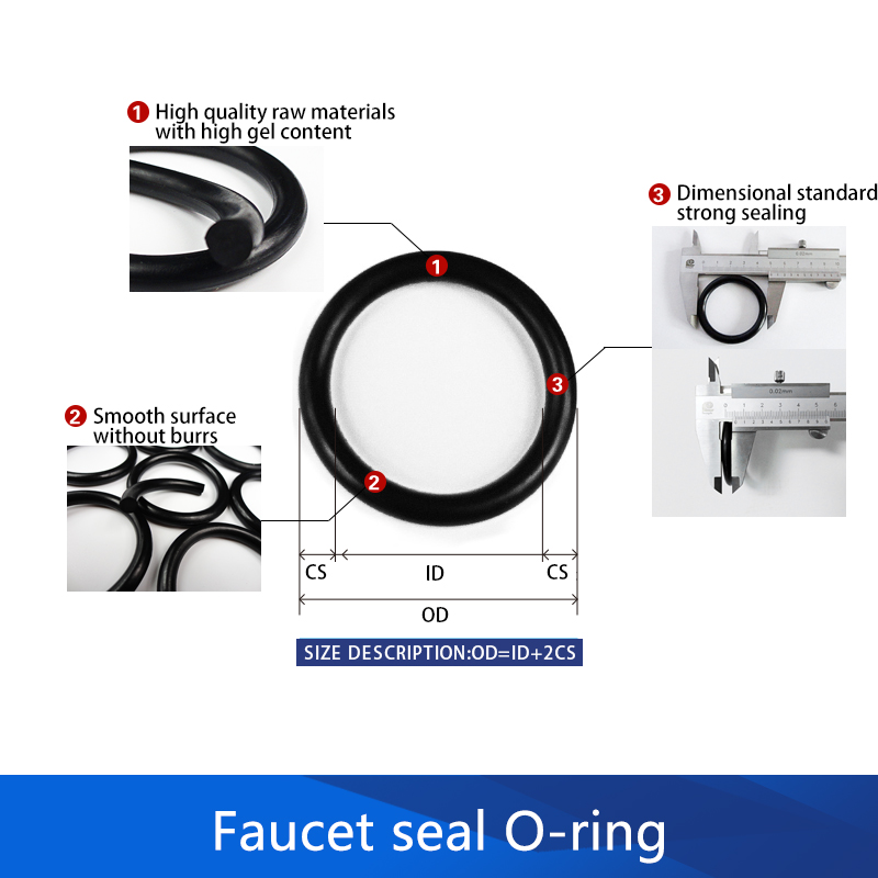 125pcs Rubber Ring NBR Silicone O Ring Rotary Faucet Washer Sealing Assortment O ring Silicone Kit Water tap Gasket Set Box Ring in Gaskets from Home Improvement