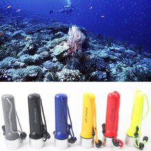 2000Lumens LED Waterproof Amphibious Diving Flashlight underwater Flash Light Torch Or For Road Lighting