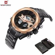Relogio masculino лучший бренд класса люкс naviforce мужчин водонепроницаемый светодиодный цифровой кварц-часы модные спортивные Для мужчин наручные часы мужской