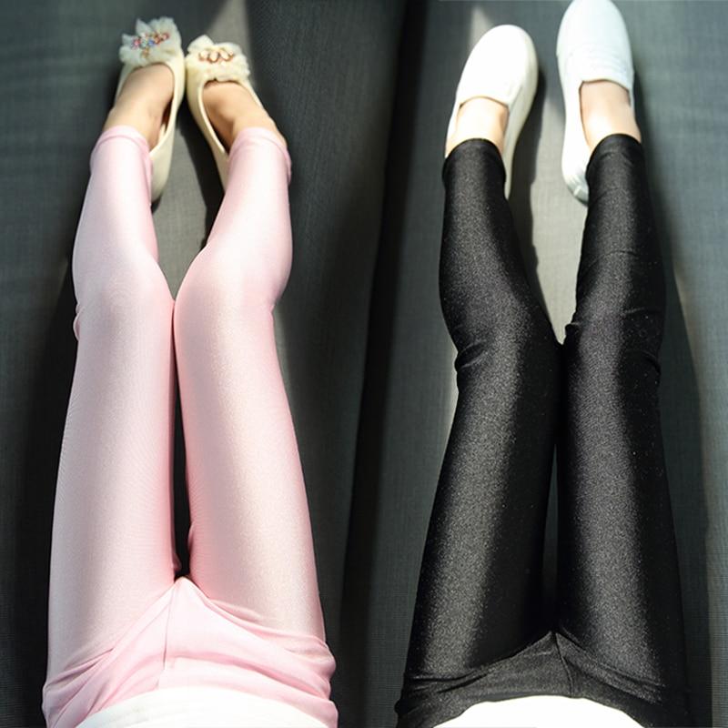 3-10Y 2016 Girls Skinny Leggings Kids Fashion Spring Summer Solid Elastic Ankle-Length Pencil Pants Children Girl Trousers ankle length elastic mens pencil pants