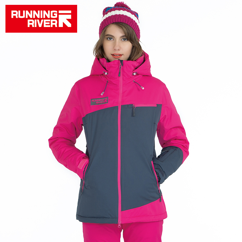 RUNNING RIVER Brand Women Ski Jacket For Winter 3 Colors 6 Size Warm Outdoor Sports Woman Jackets High Quality Clothing #A5011