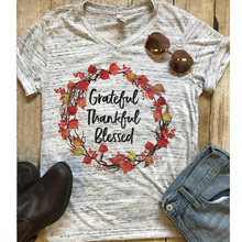 2019 Blessed Mama T-shirt Women Boho Top girl Floral T Shirt T-shirts Graphic Tops Spring Autumn Tees