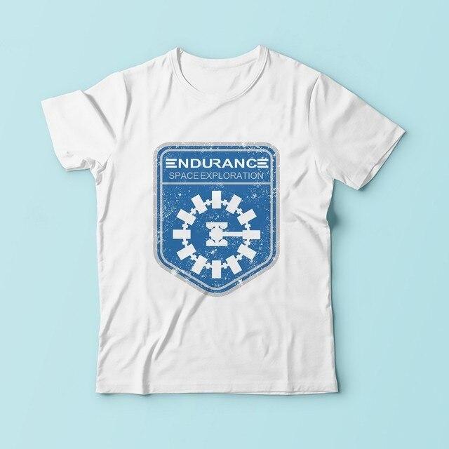 079117777 Interstellar ENDURANCE logo badge t shirt men JOLLYPEACH new white casual  plus size tshirt homme sublimation print t-shirt