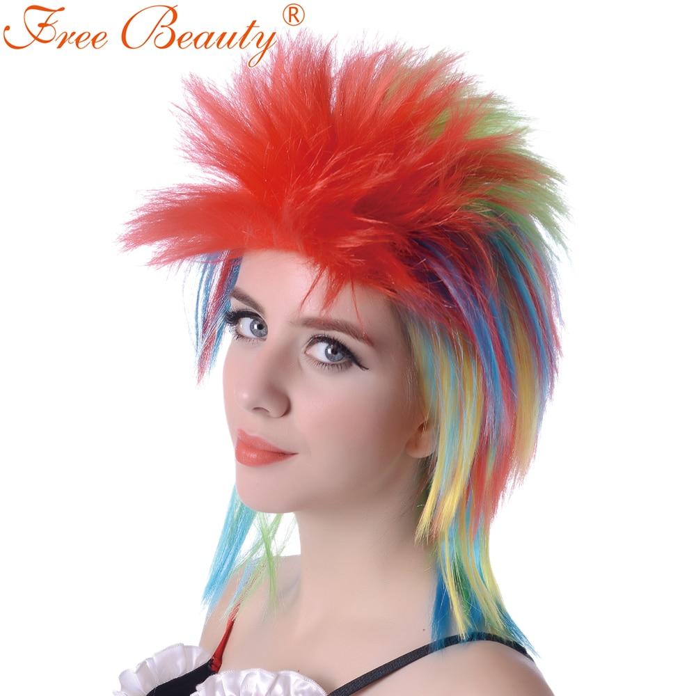 Fri Skönhet 16''party Cosplay Paryk Medium Rak Syntetisk Paryk För - Syntetiskt hår