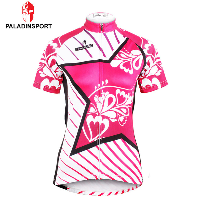 a7773db8b Paladin Red Star Women Cycling Jersey Breathable Bike Cloth Quick Dry  Bicycle Sportwear Ropa Ciclismo Shirt Top Geometry Design
