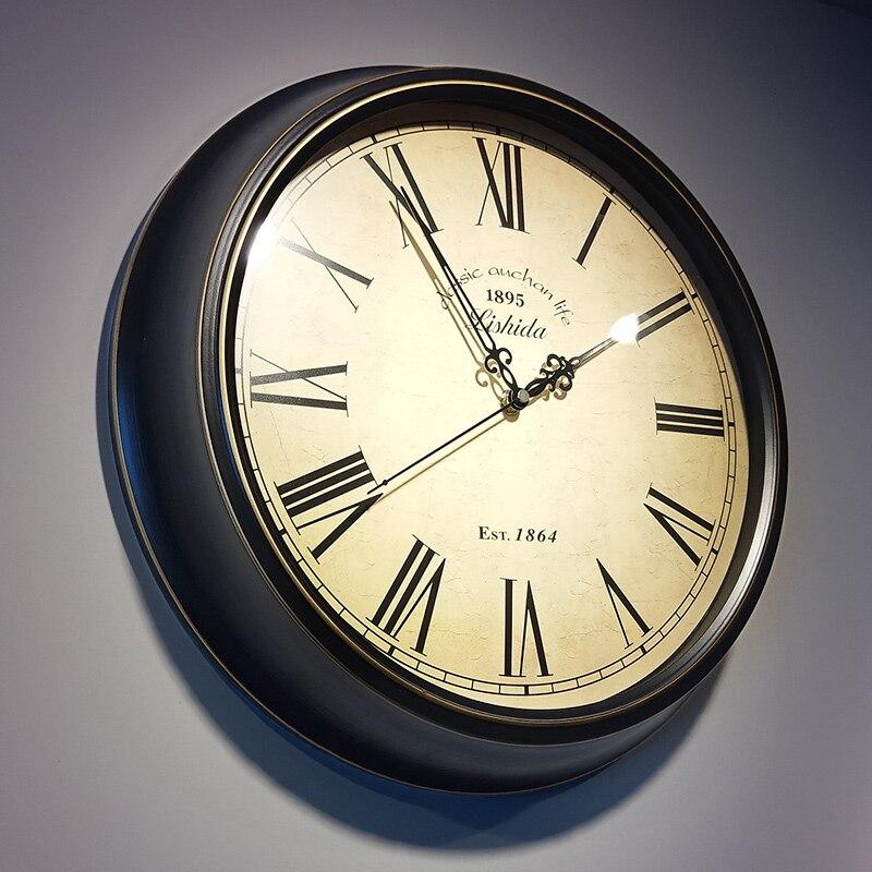 Ev ve Bahçe'ten Duvar Saatleri'de Avrupa Roma Arapça Numarası duvar saati 12'inch Ev Dekorasyon duvar saati s Kuvars Plastik Reloj De Pared Modern Tasarım'da  Grup 1