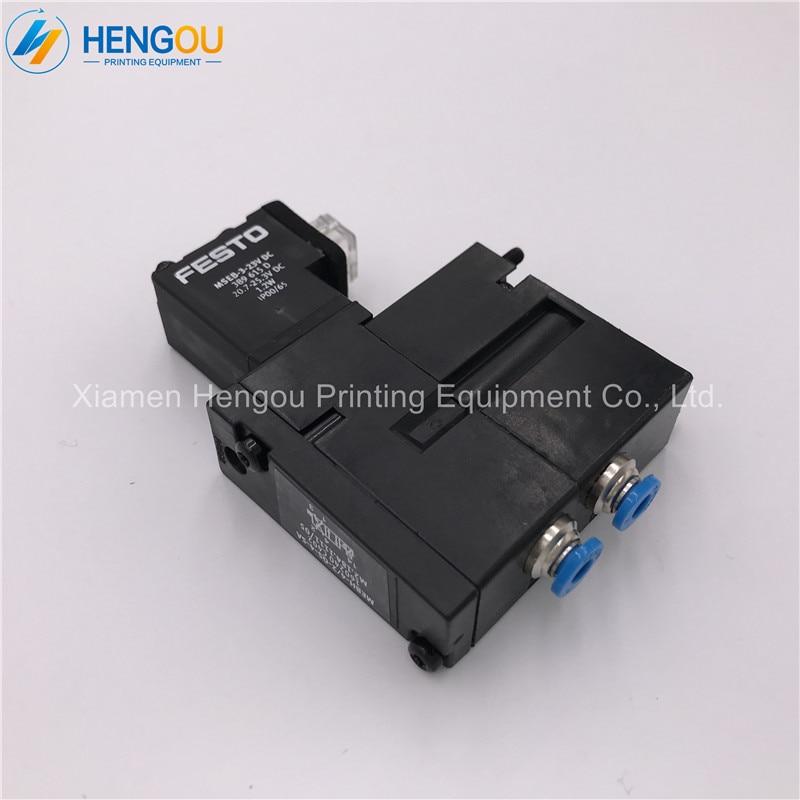 4 Pieces Brand New M2.184.1111 Heidelberg valve M2.184.1111/05 MEBH-4/2-QS-4-SA for SM52 SM102 Printing Machine brand new 4 2 01