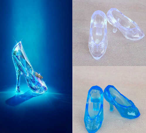 Fashion Doll Shoes Imitation Fairy Tale High Heels Sandals For for Barbie Dolls Crystal Shoes For CINDERELLA