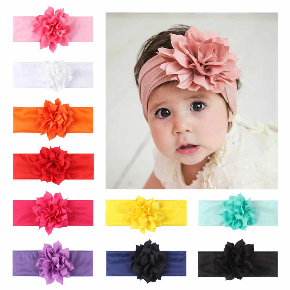 Newborn Toddler Kids Baby Floral Crown Girls Headbands Hairband Phtography Props newborn headband photography accessories#5