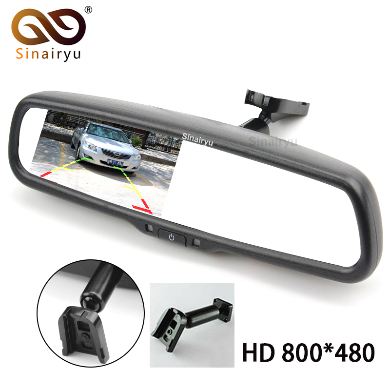 2017 Special Bracket HD 800*480 4.3 TFT LCD Digital Screen Car Parking Rear View Rearview Mirror Monitor Video Player For Camera sinairyu hd mirror monitor 800 480 high resolution tft lcd rear view mirror screen display for backup camera two video inputs