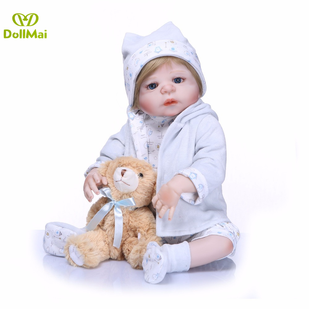 Bebes reborn baby doll boy 2255cm full silicone reborn babies dolls toys for child girls Christmas Gift munecas reborn Bebes reborn baby doll boy 2255cm full silicone reborn babies dolls toys for child girls Christmas Gift munecas reborn