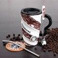 TT99 Starbucks taza personalidad creativa de la historieta hilo de gran capacidad de vidrio taza de cerámica taza de café taza