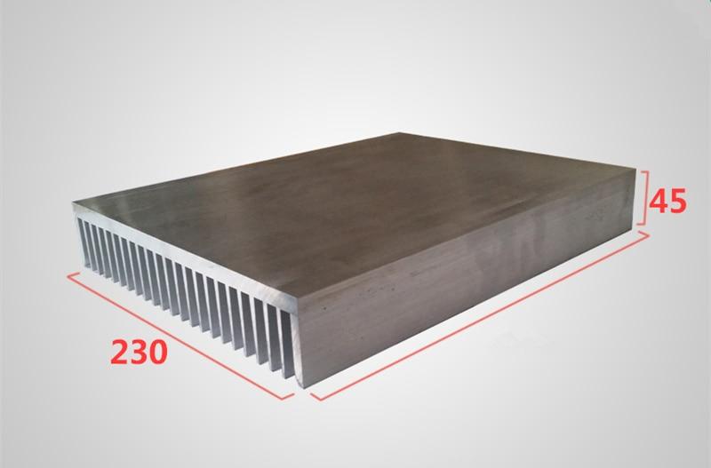 Aluminum profile heat sink width 230,high 45,length 100/200/300mm High power radiator for Power / Industrial applications / UPS