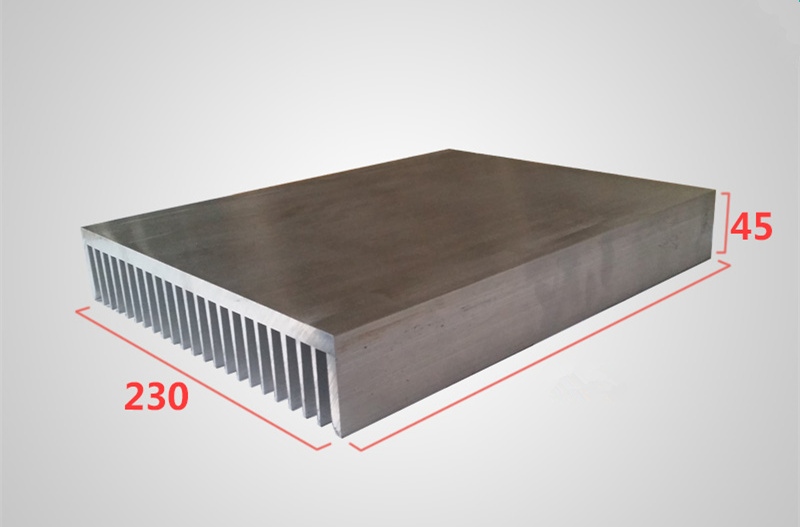 Aluminum profile heat sink width 230,high 45,length 100/200/300mm High power radiator for Power / Industrial applications / UPS free ship high quality high power radiator dense tooth aluminous profile 125 45 125mm power supply power amplifier heat sink