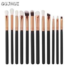 Hot Best Deal 12Pcs Mini Cosmetic Eyebrow Eyeshadow Brush Makeup Brush Sets Kits Tools Beauty Girl Nov 4