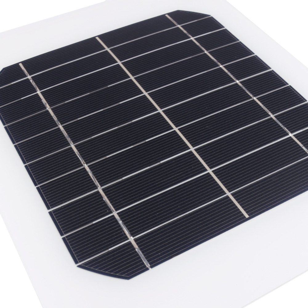 5 Volts 5 Watts Portable Power Multifunctional Solar Panel Battery Charger Black