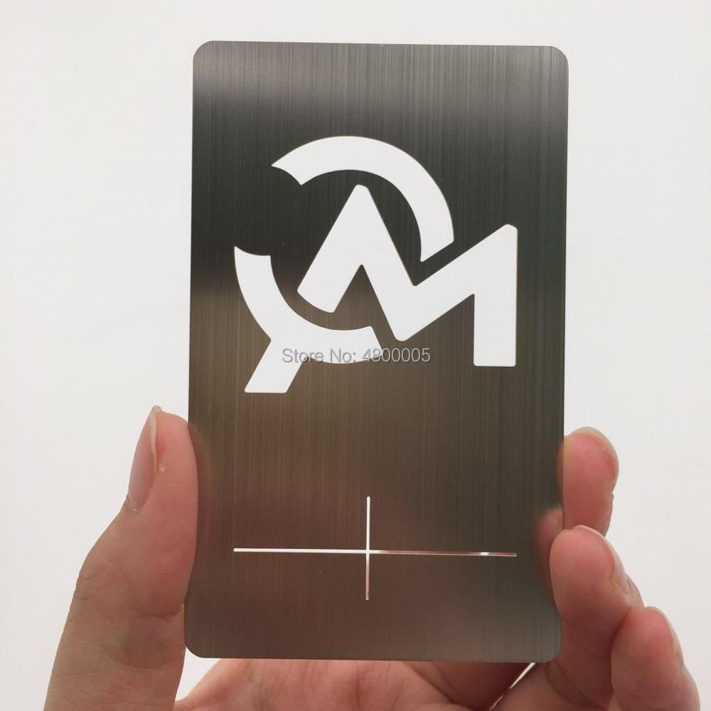 (150pcs/lot)Manufacturer Cheap Price Metal Stainless Steel Silk Screen Printing Business Card