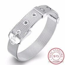 LEKANI модный дизайн пояса из чистого серебра 925 пробы, хорошее ювелирное изделие, браслет, высокое качество, 10 мм, цепочка для часов для женщин и мужчин, подарок