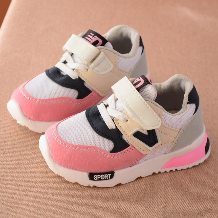 Scarpe sportive Per Bambini Nuovo Autunno Inverno Moda Bambini Ragazzi Scarpe Traspiranti Netti Anti-Sdrucciolevole Ragazze Sneakers Toddler Shoes