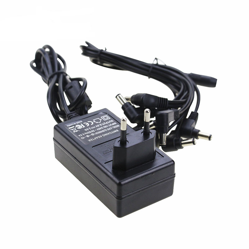 Caline CP-07 Power Supply 9V 2A 18W Use for Guitar Effect Pedals 100-240V Input Switching Pedal Adapter UK US EU AU Standard autoeye cctv camera power adapter dc12v 1a 2a 3a 5a ahd camera power supply eu us uk au plug
