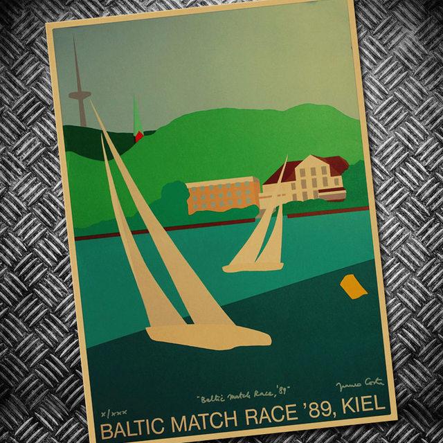 Melbourne Beautiful Beach Vintage Retro Poster Kraft Paper Wall ...