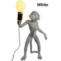 High Replace Nordic SELETTI Monkey Desk Lamp led Table Lamp White Resin For Home Bedroom Simple Art Bureaulamp 110V 240V Modern